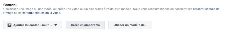 Contenu Facebook Ads
