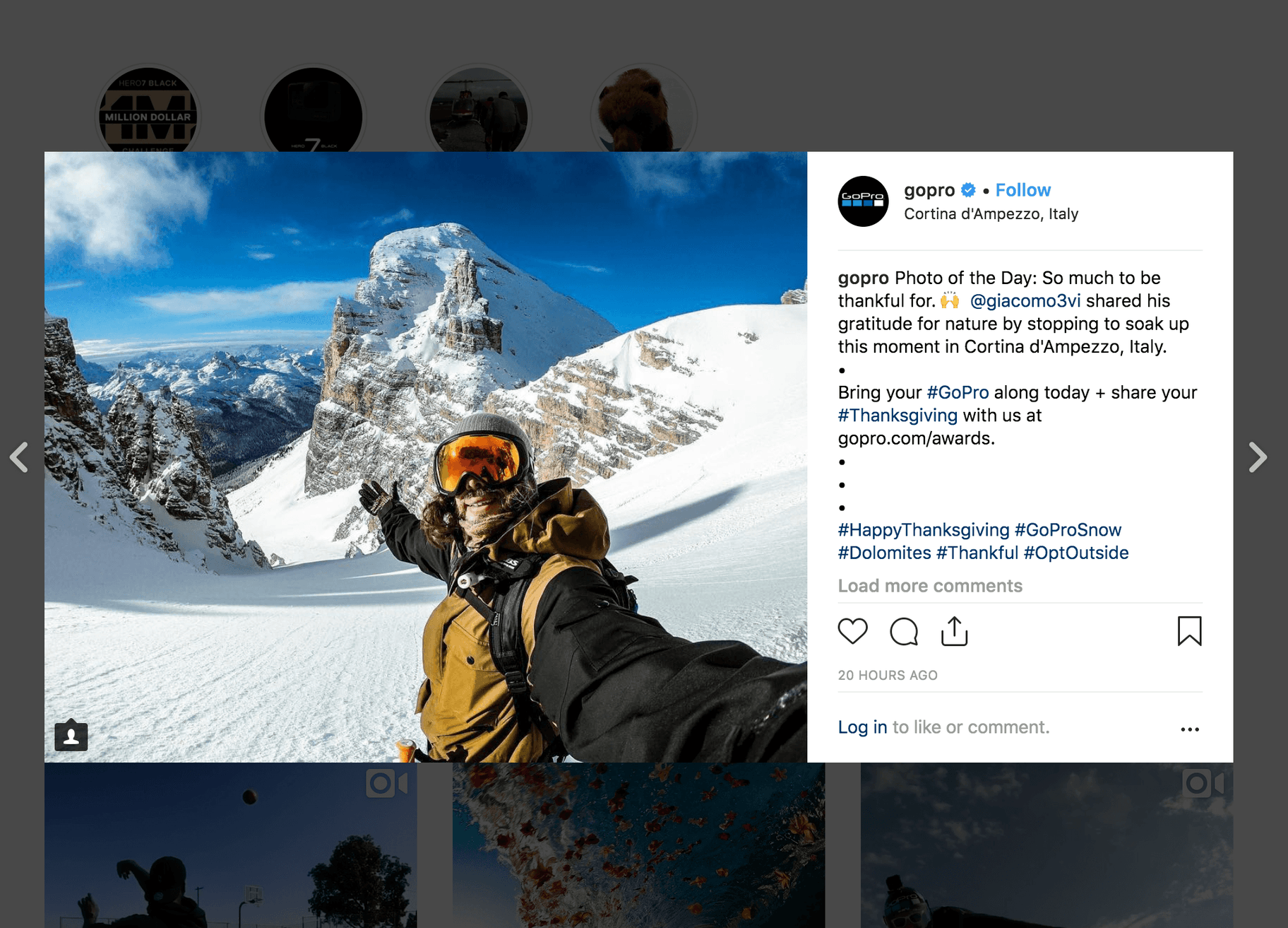 Partenariat rémunéré Instagram exemple