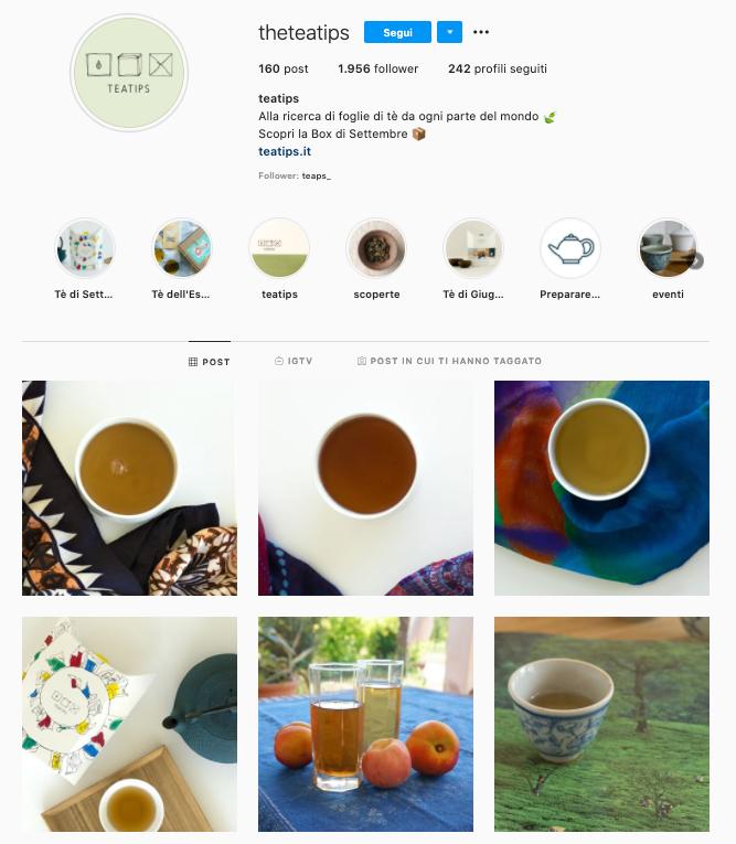Lavorare da casa: teatips su instagram