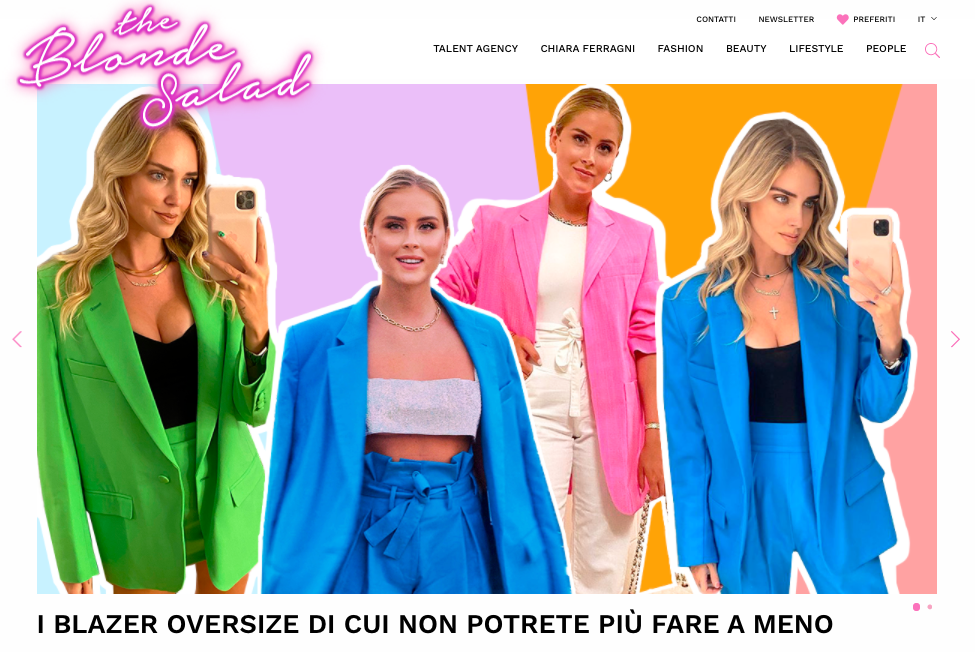 The Blonde Salad: un blog per lavorare da casa