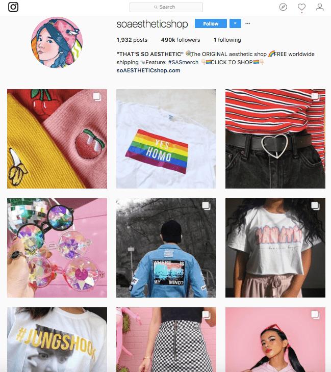 guadagnare con instagram SoAestheticShop