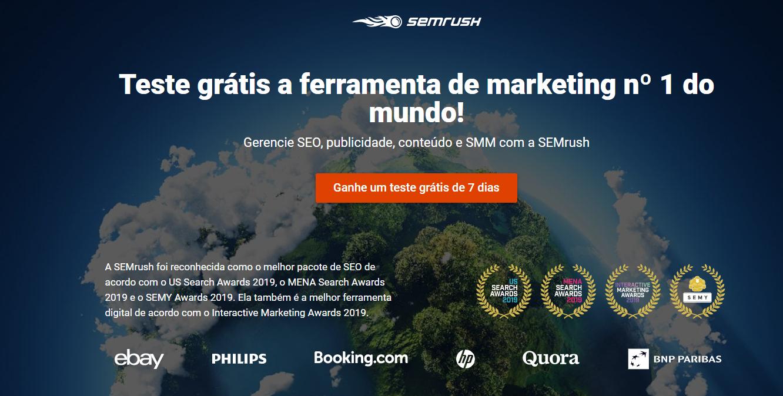 Modelos de landing page: SEMRush