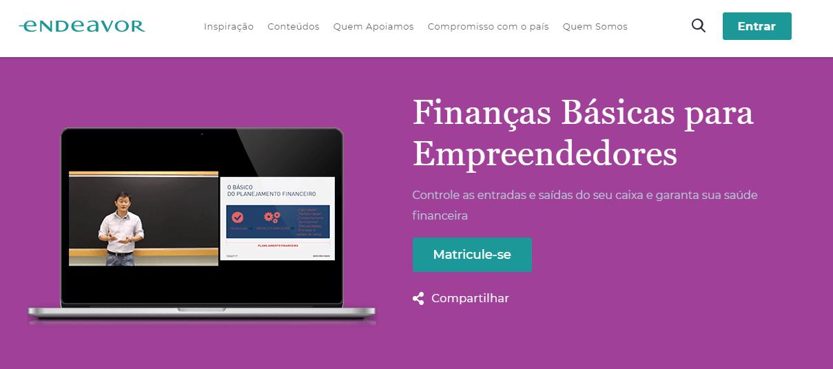 Curso online para empreendedores: Finanças básicas para empreendedores, da Endeavor