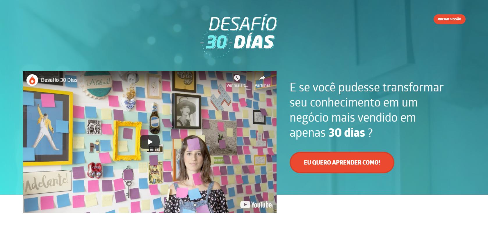 Melhores cursos online: Desafio 30 dias, da Hotmart
