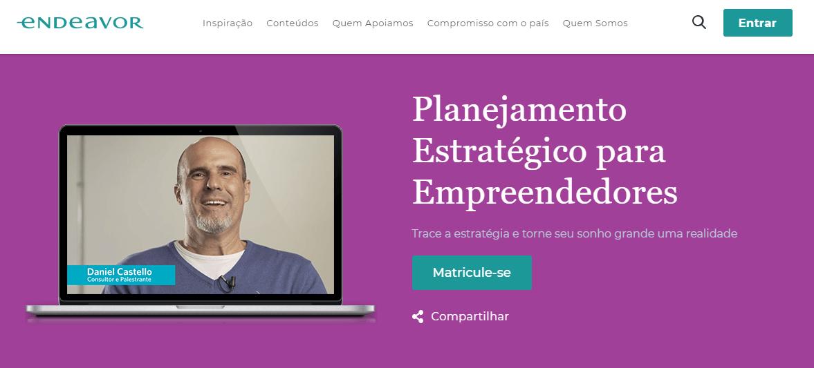 Curso para empresários: Planejamento estratégico para empreendedores, da Endeavor
