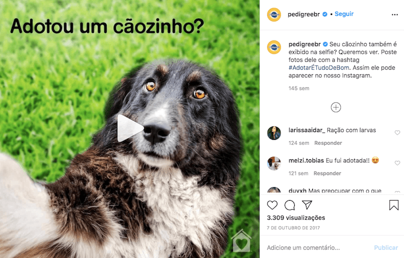 exemplo de marketing no Instagram