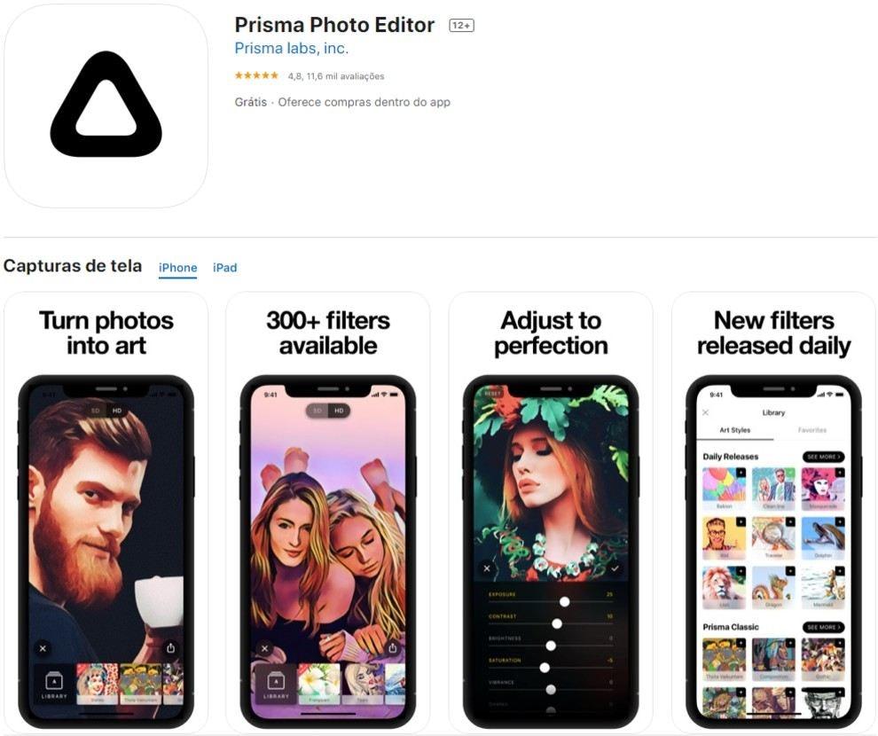 prisma, app para stories