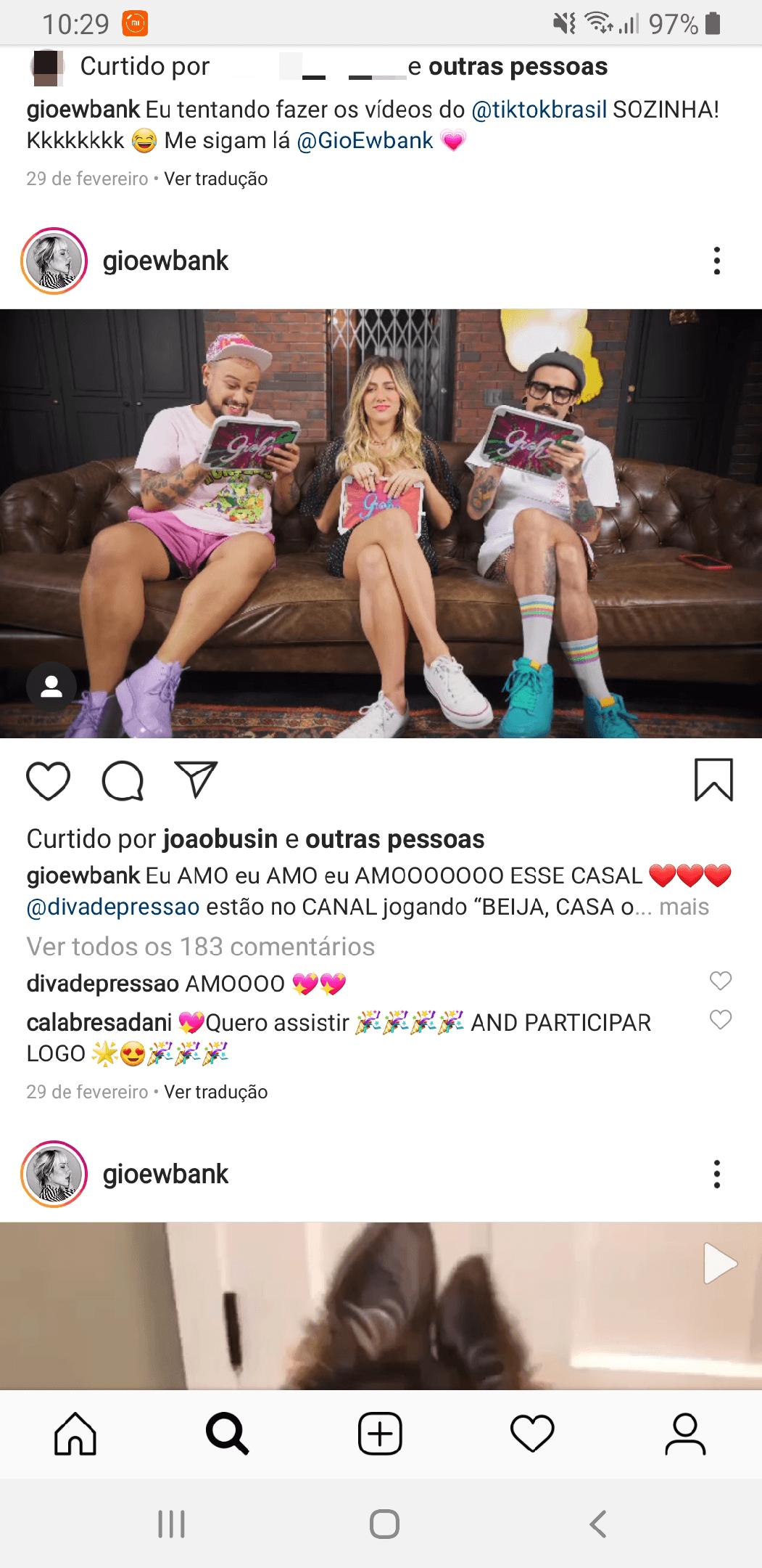 Formato de vídeo para Instagram: widescreen