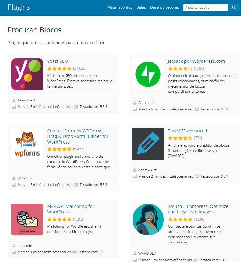 Como criar um site: plugins do Wordpress