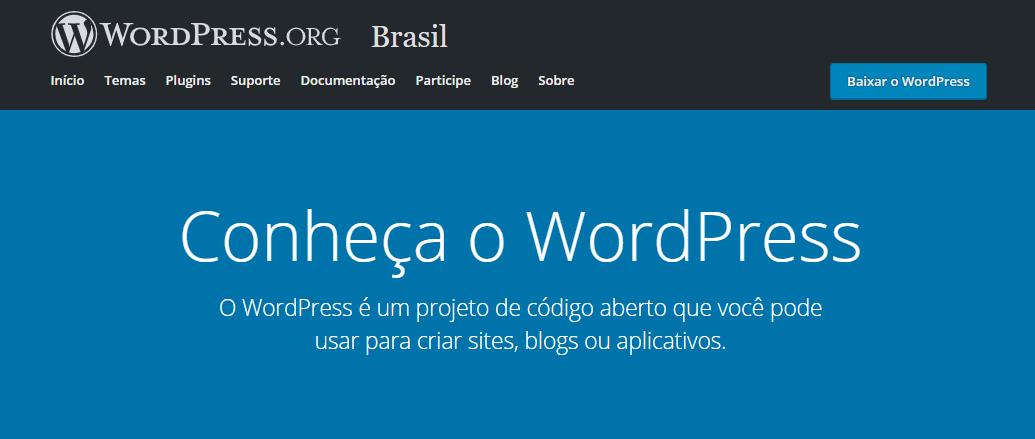 Como criar um site para blog: WordPress.org