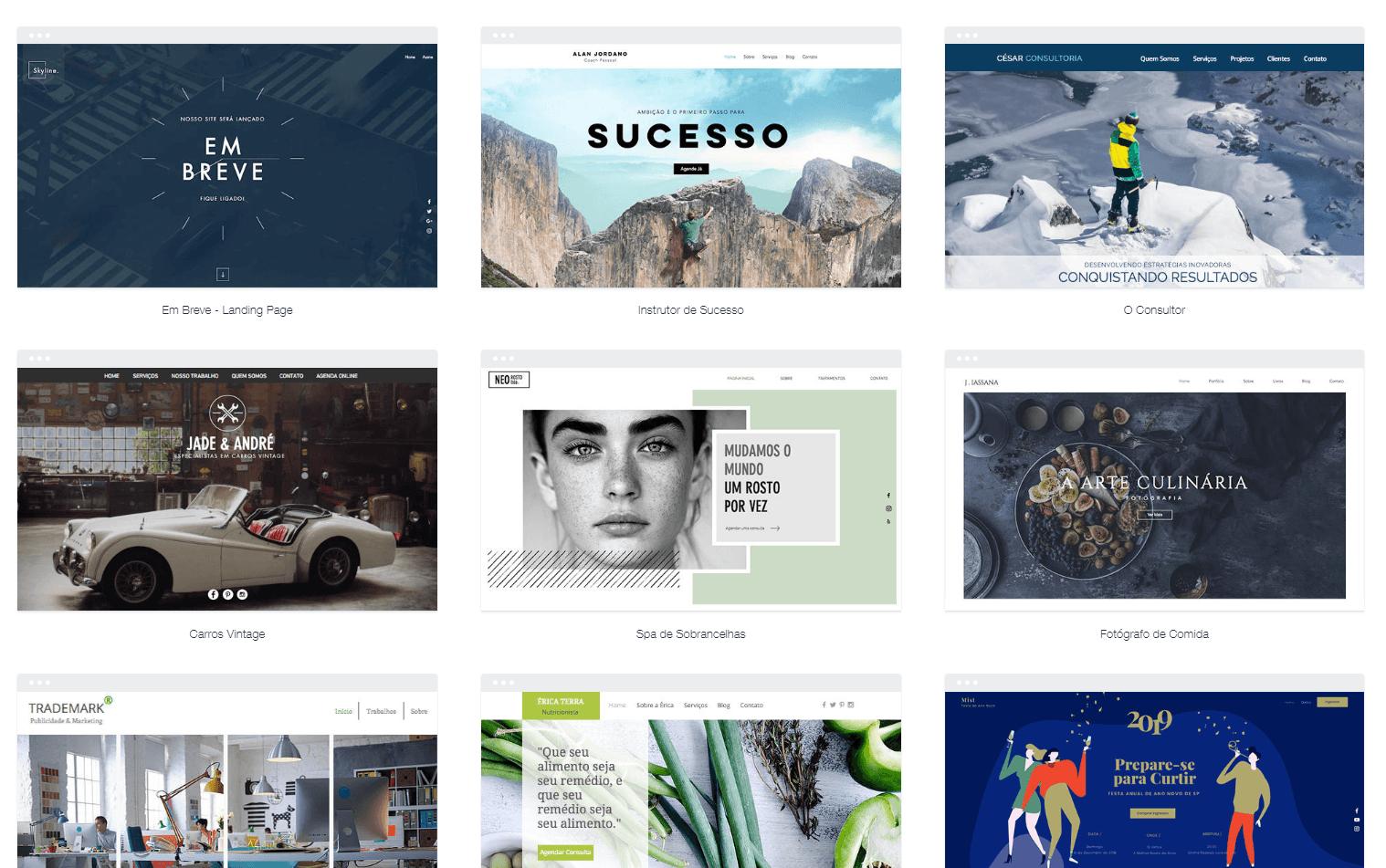 Como fazer um site: Wix