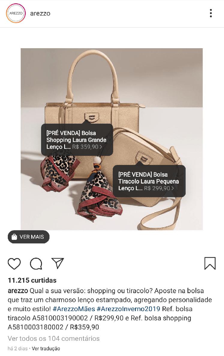 Compras no Instagram - Hashtags