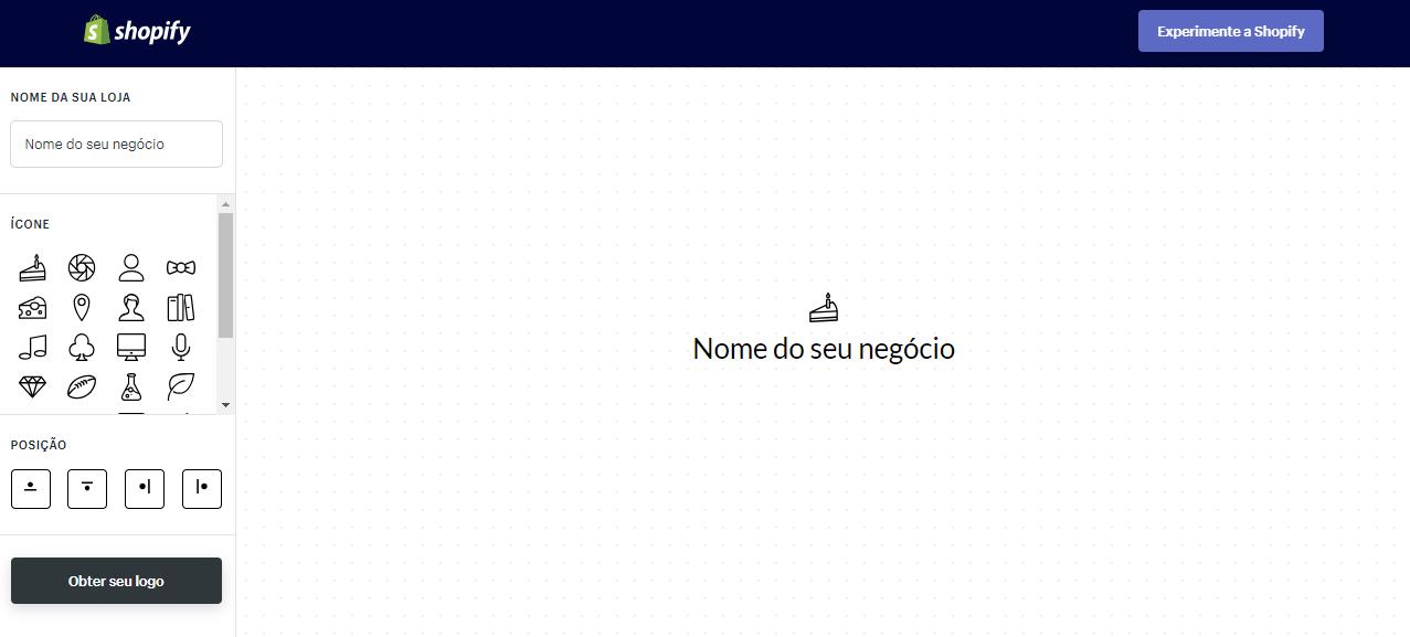 criar logo grátis shopify