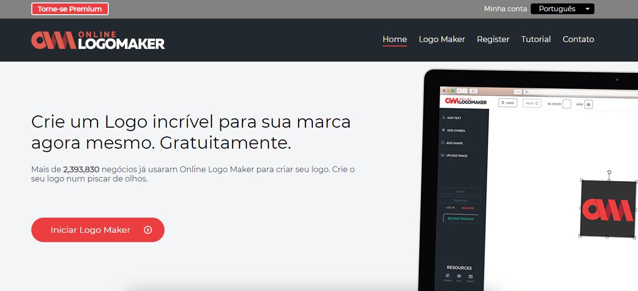 Crie logos online grátis com Online Logomaker
