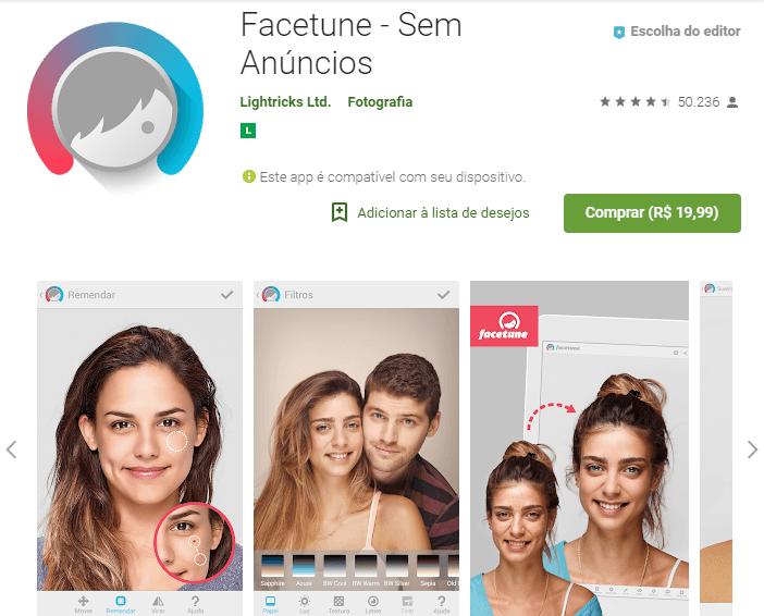 app para editar fotos facetune