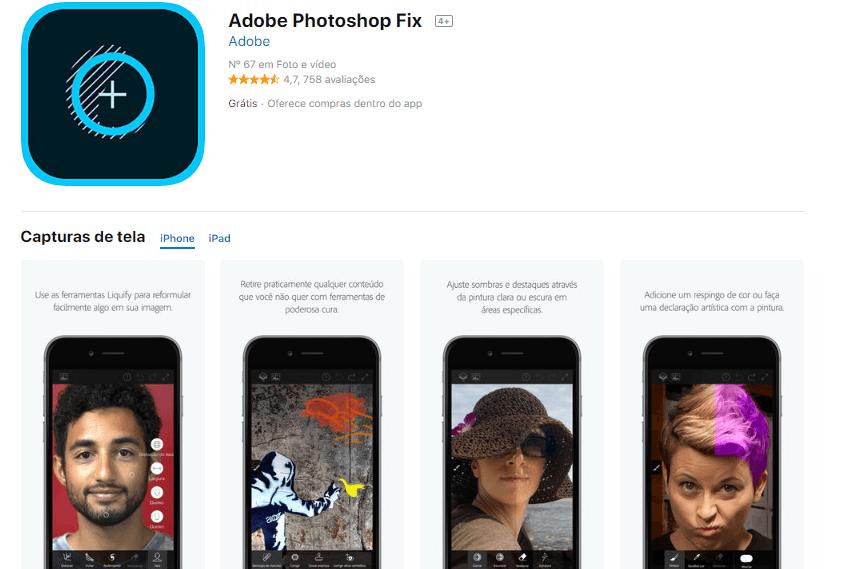 editor de imagens - Adobe Photoshop Fix