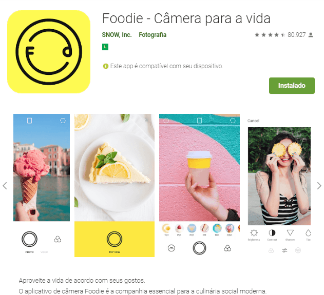 editar fotos - foodie