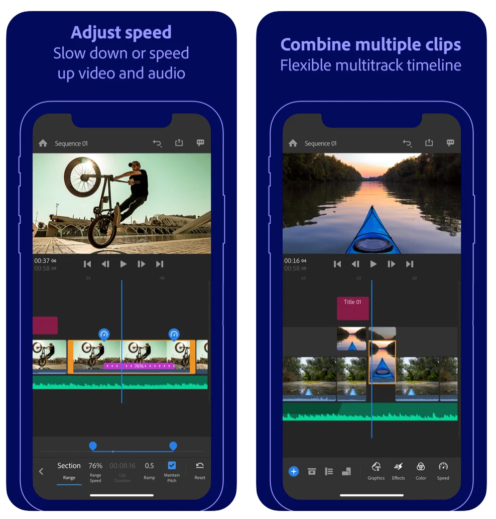 adobe premium rush free video mobile edits