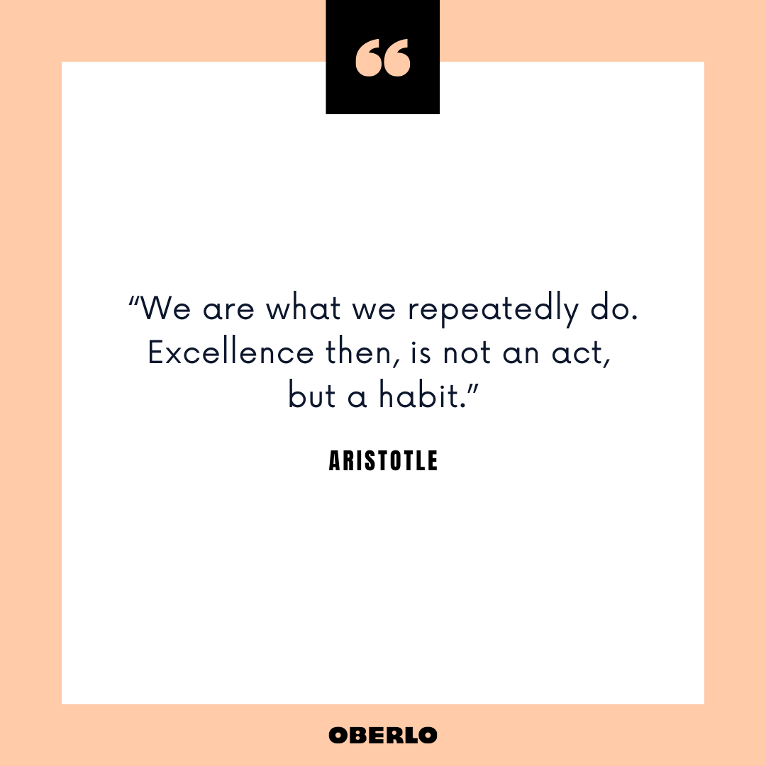 Good Morning Routine for Success: Aristotle Quote