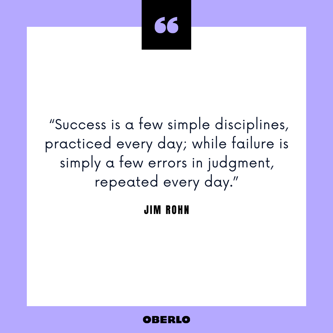 Productive Morning Routine for Success: Jim Rohn Quote