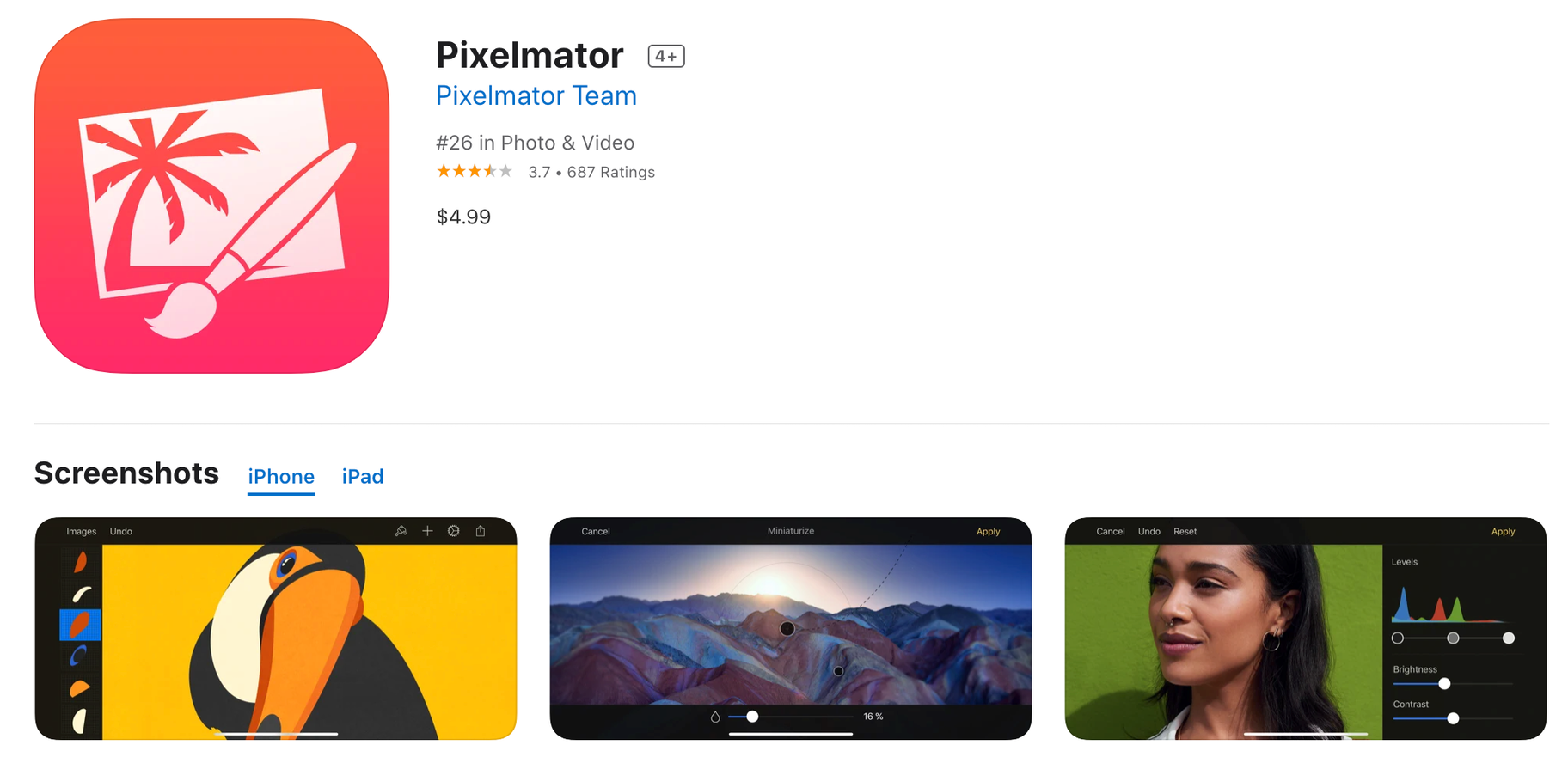 Pixelmator paid photo editor app