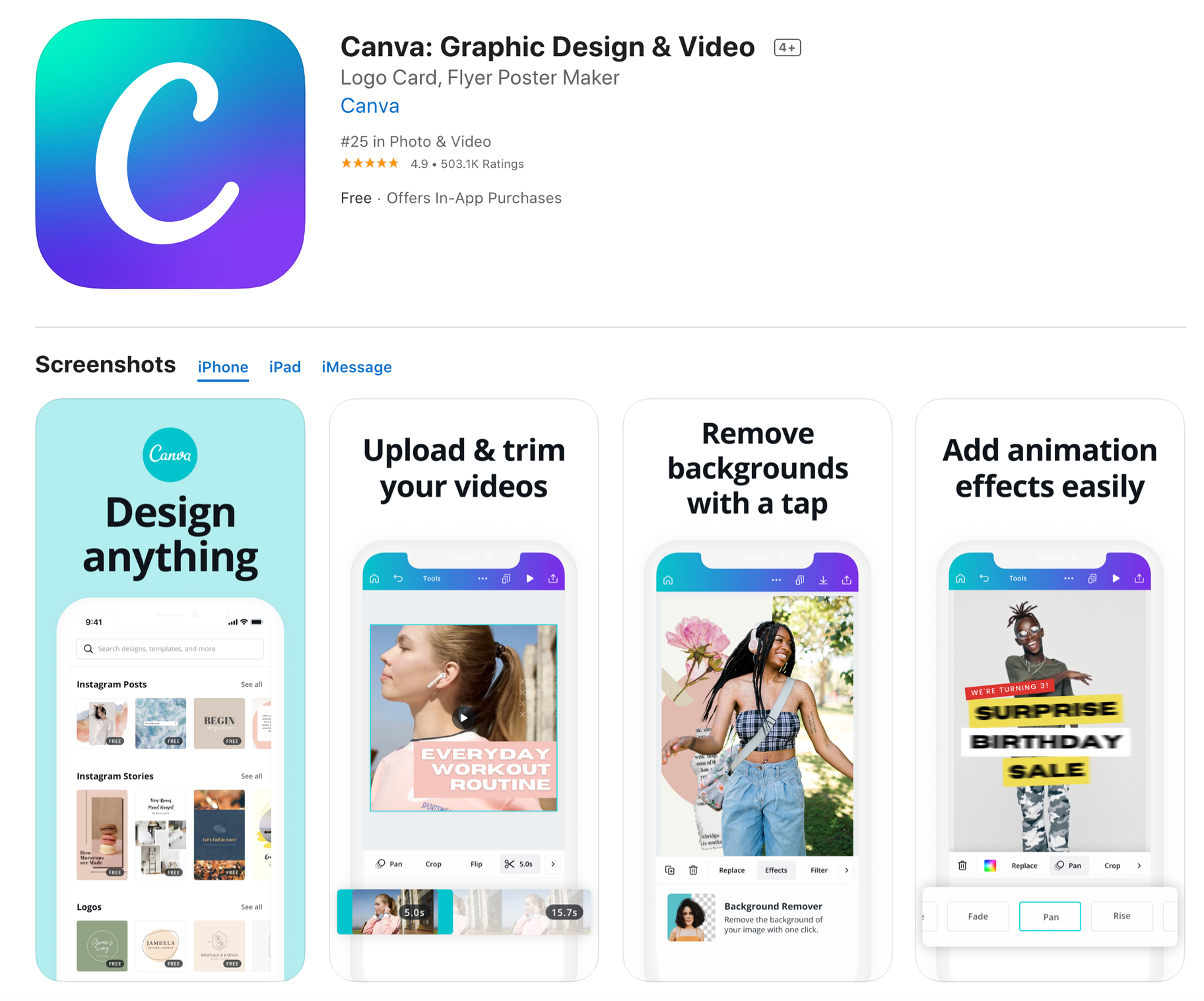 Canva Free Mobile Photo Editor App