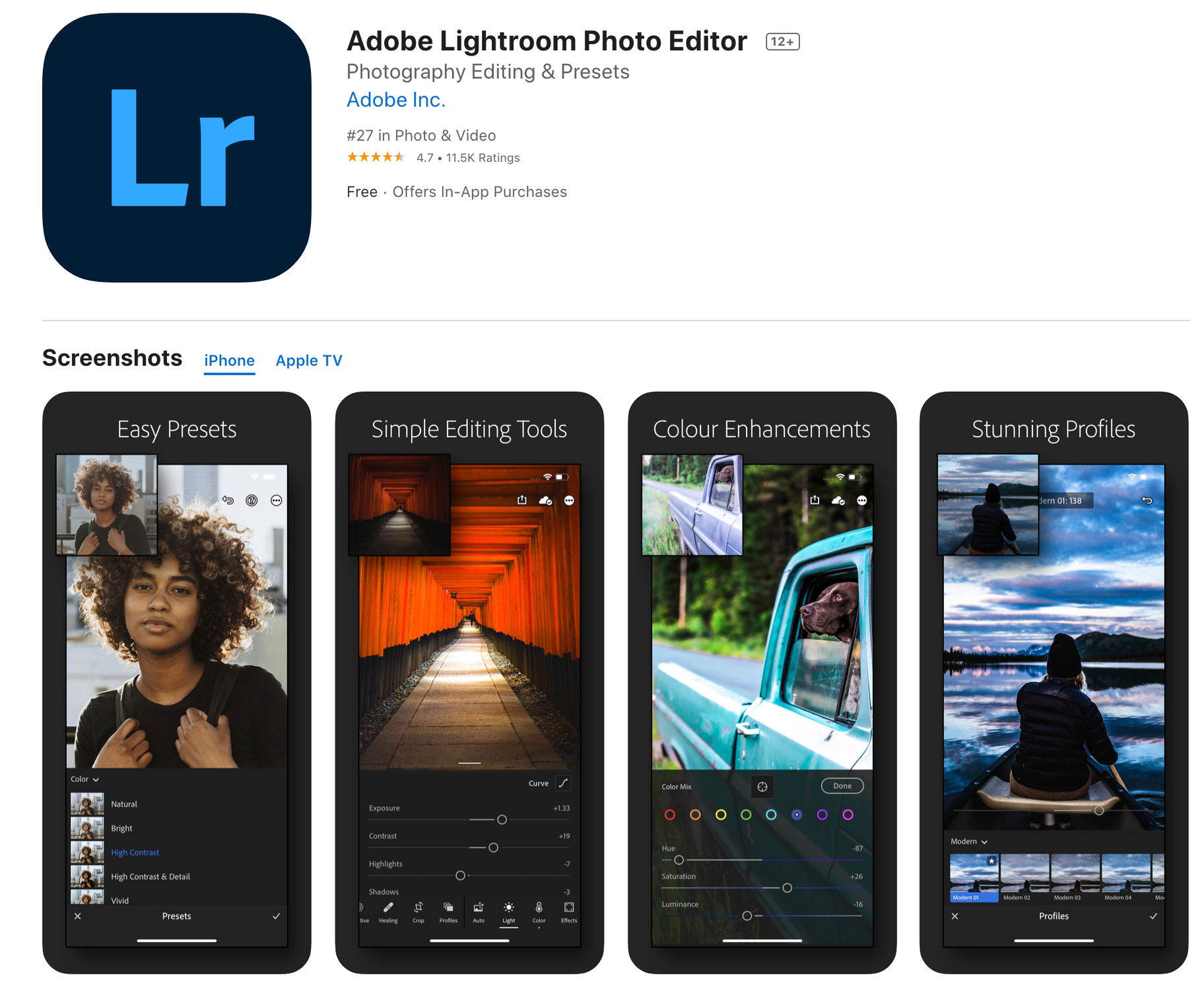 Adobe Lightroom Photo Editing App
