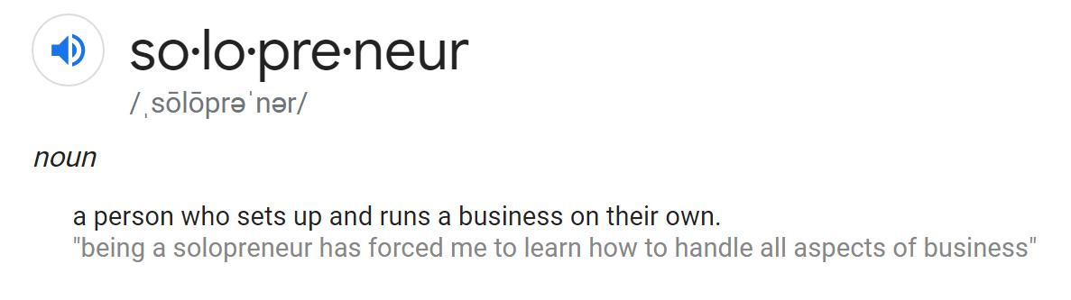 solopreneur definition