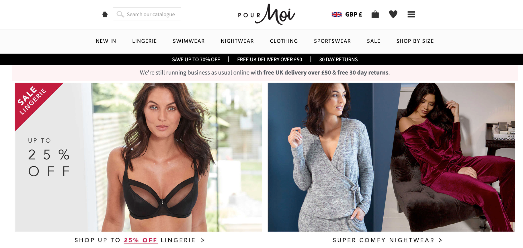 Shopify lingere store