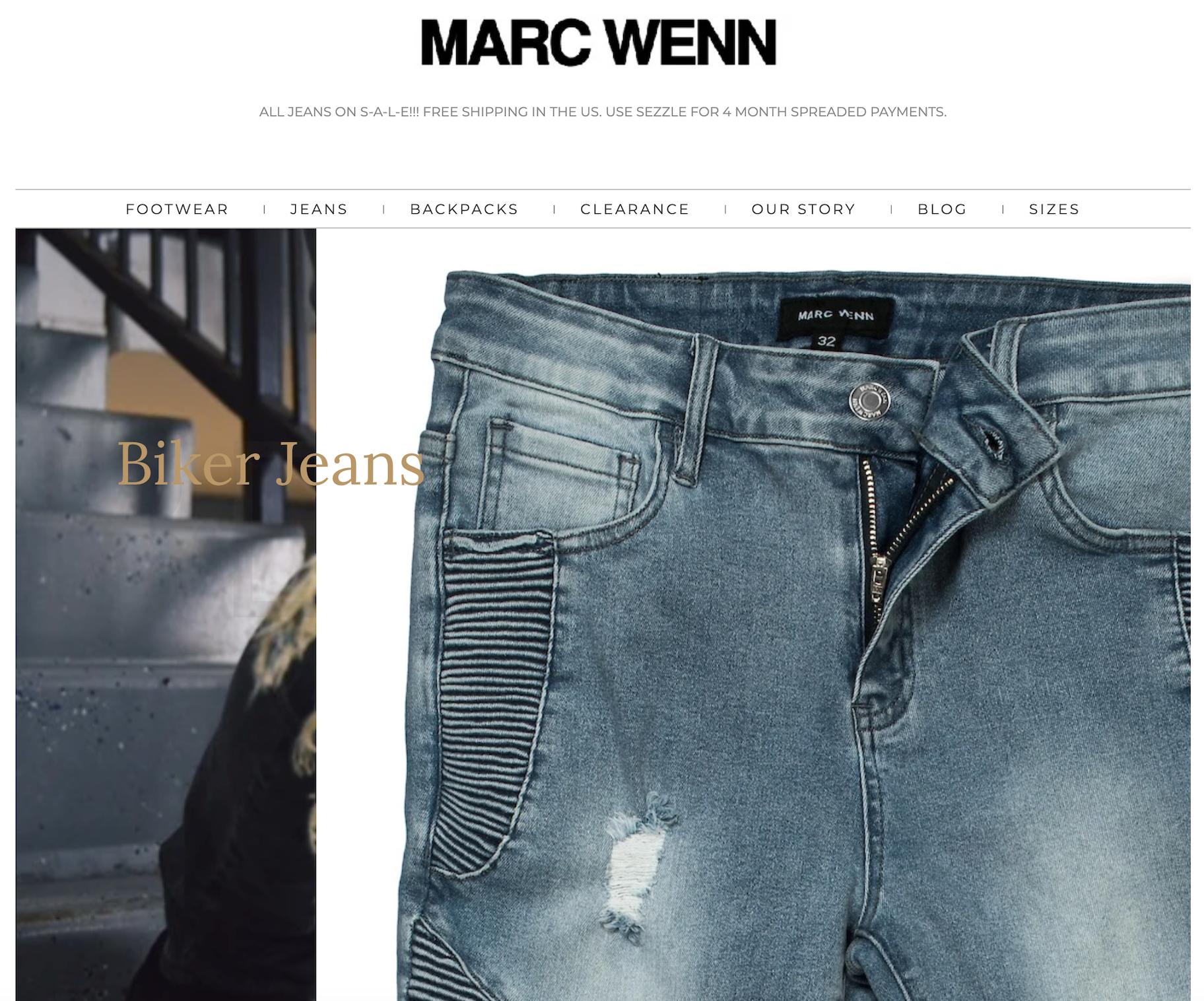 mark wenn biker jeans