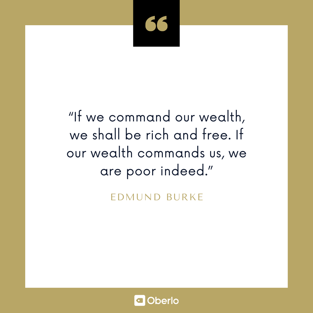 Financial Security Quote: Edmund Burke