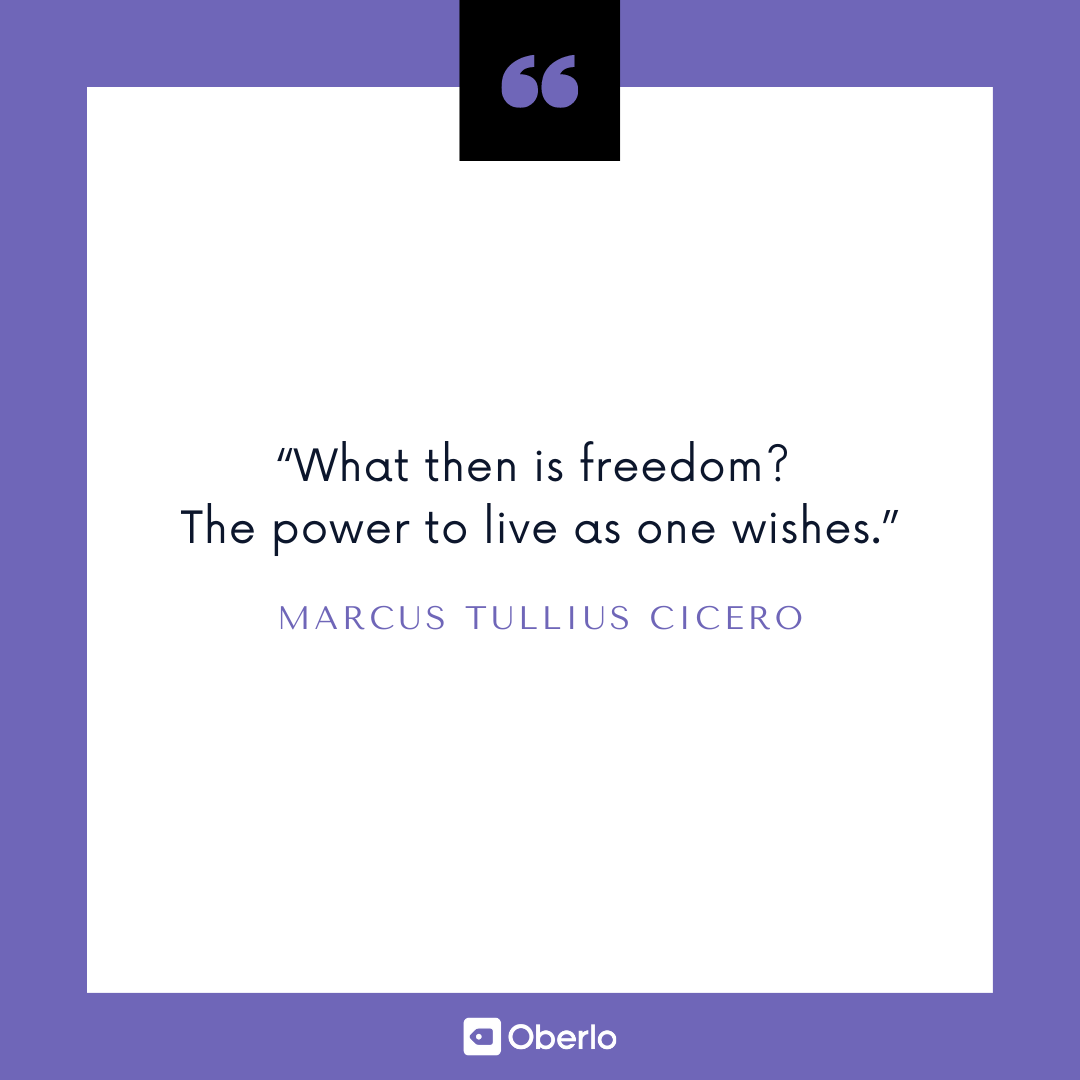 Financial Security Quote: Cicero