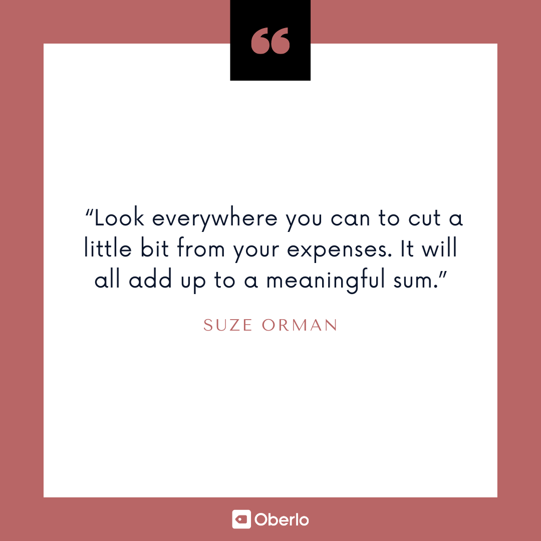 Financial Advice for Young People: Suze Orman Quote