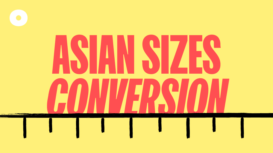 Convert Asian Sizes to US Sizes – Asian