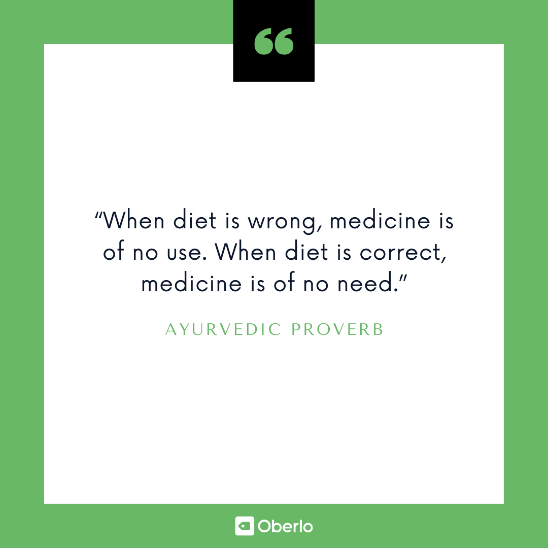 Improve Yourself Quote: Ayurvedic Proverb