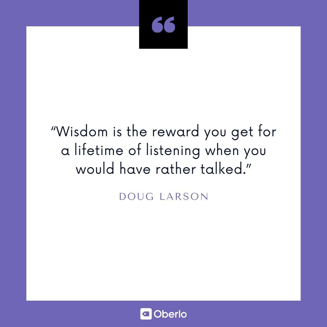 Improve Yourself Quote: Doug Larson