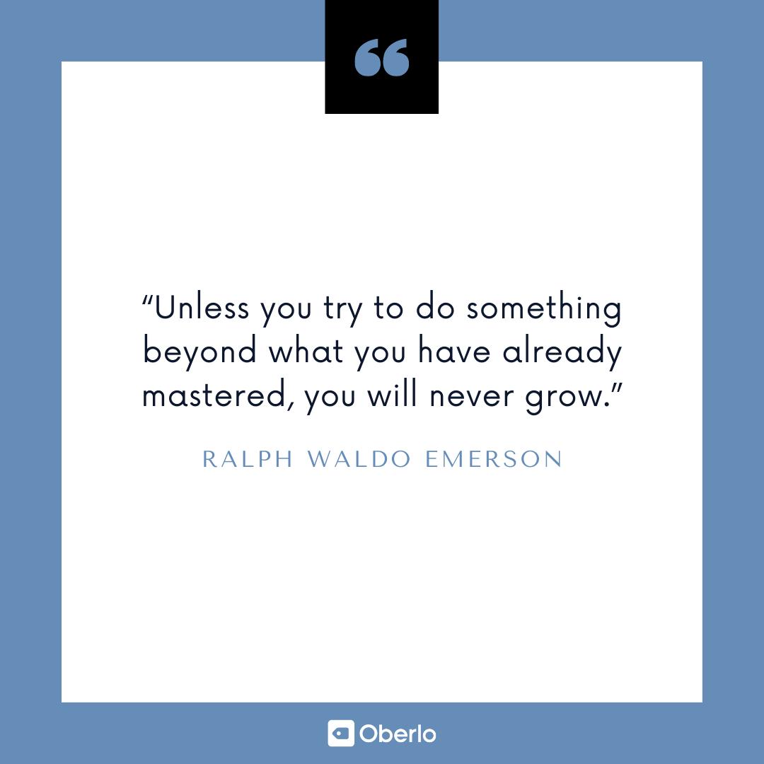 Improve Yourself Quote: Ralph Waldo Emerson