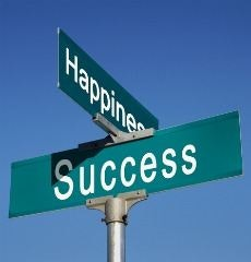 balance between happiness and success