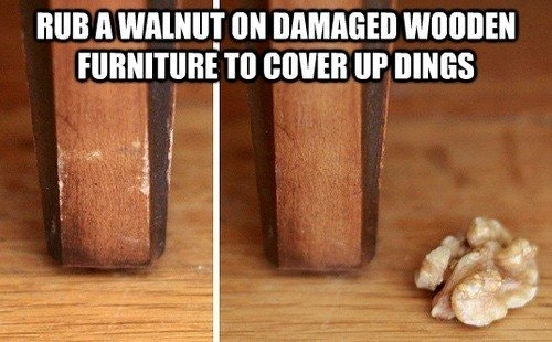 How to Fix Dings on Wooden Furniture