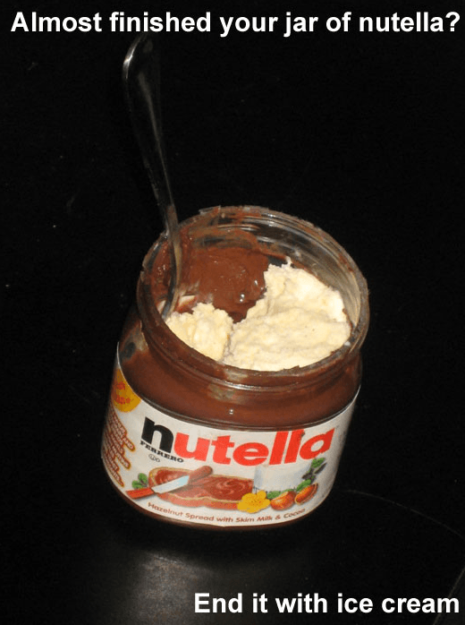 How to Finish Jars of Nutella