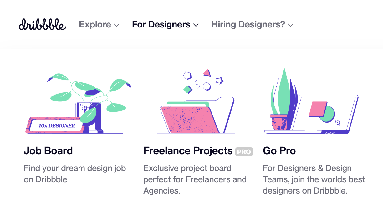 Dribbble: Graphic Design Jobs