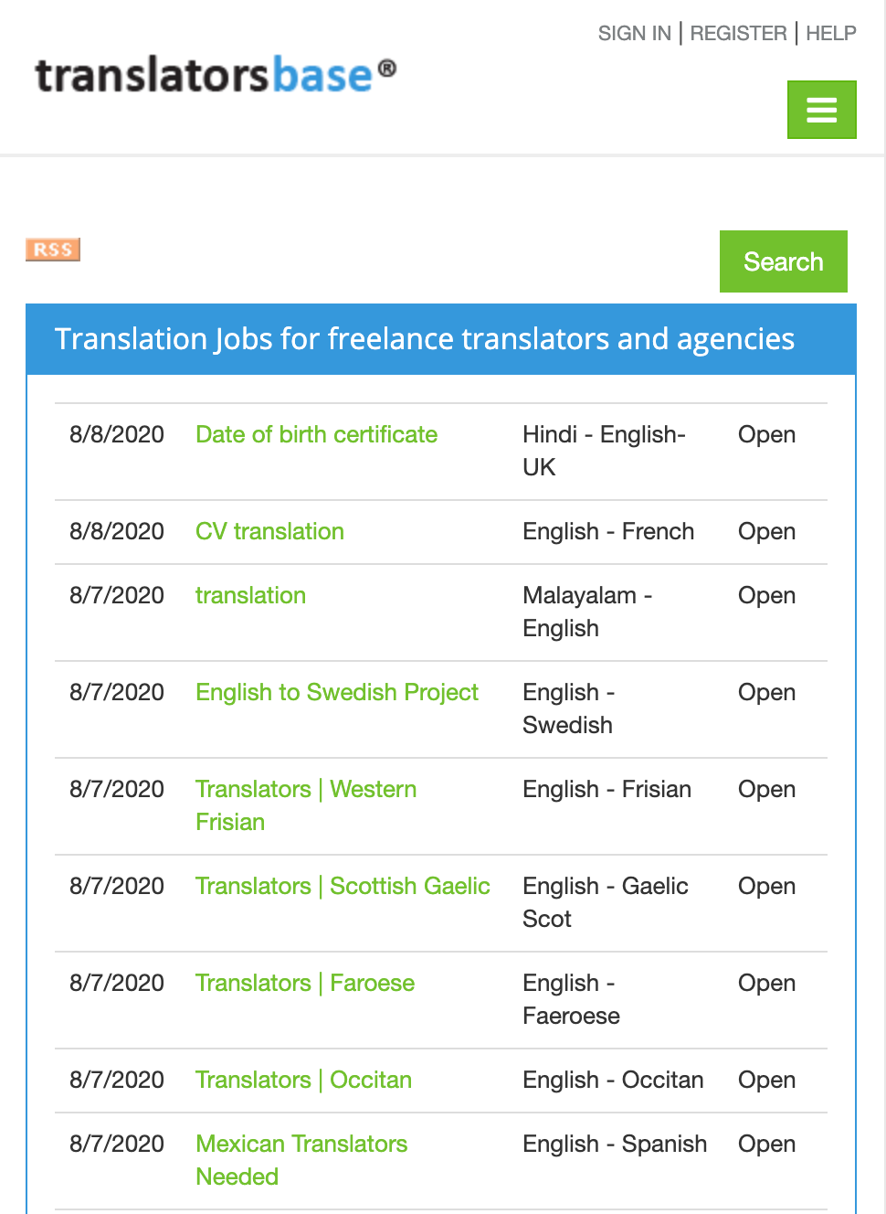 TranslatorsBase Job Boards