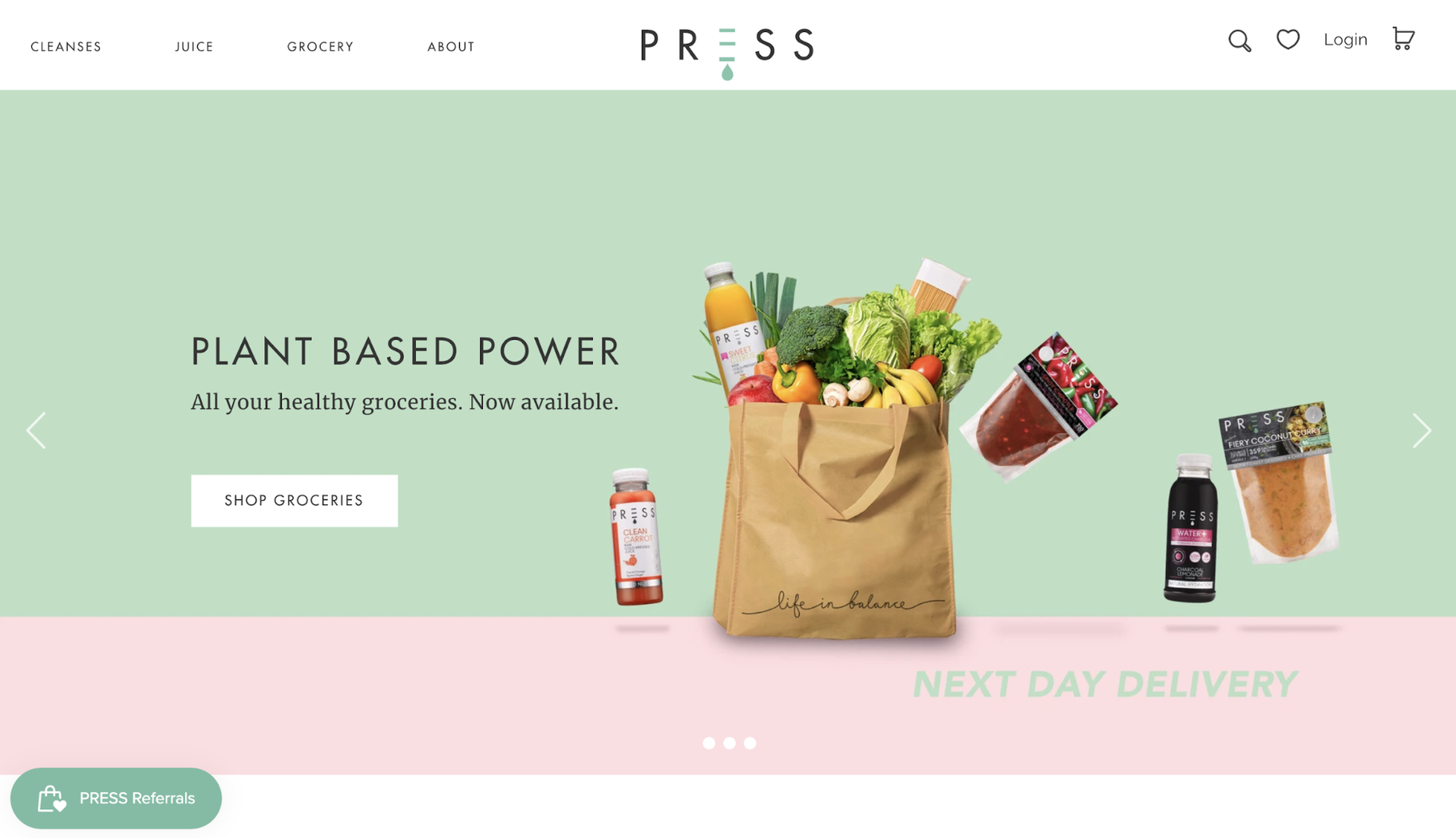 Small Business Website Example: Press London