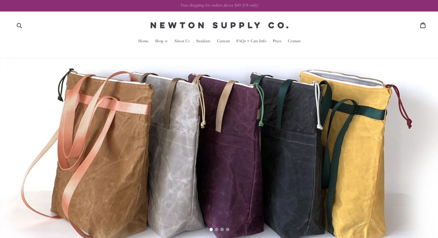 Small Business Website Example: Newton Supply Co.