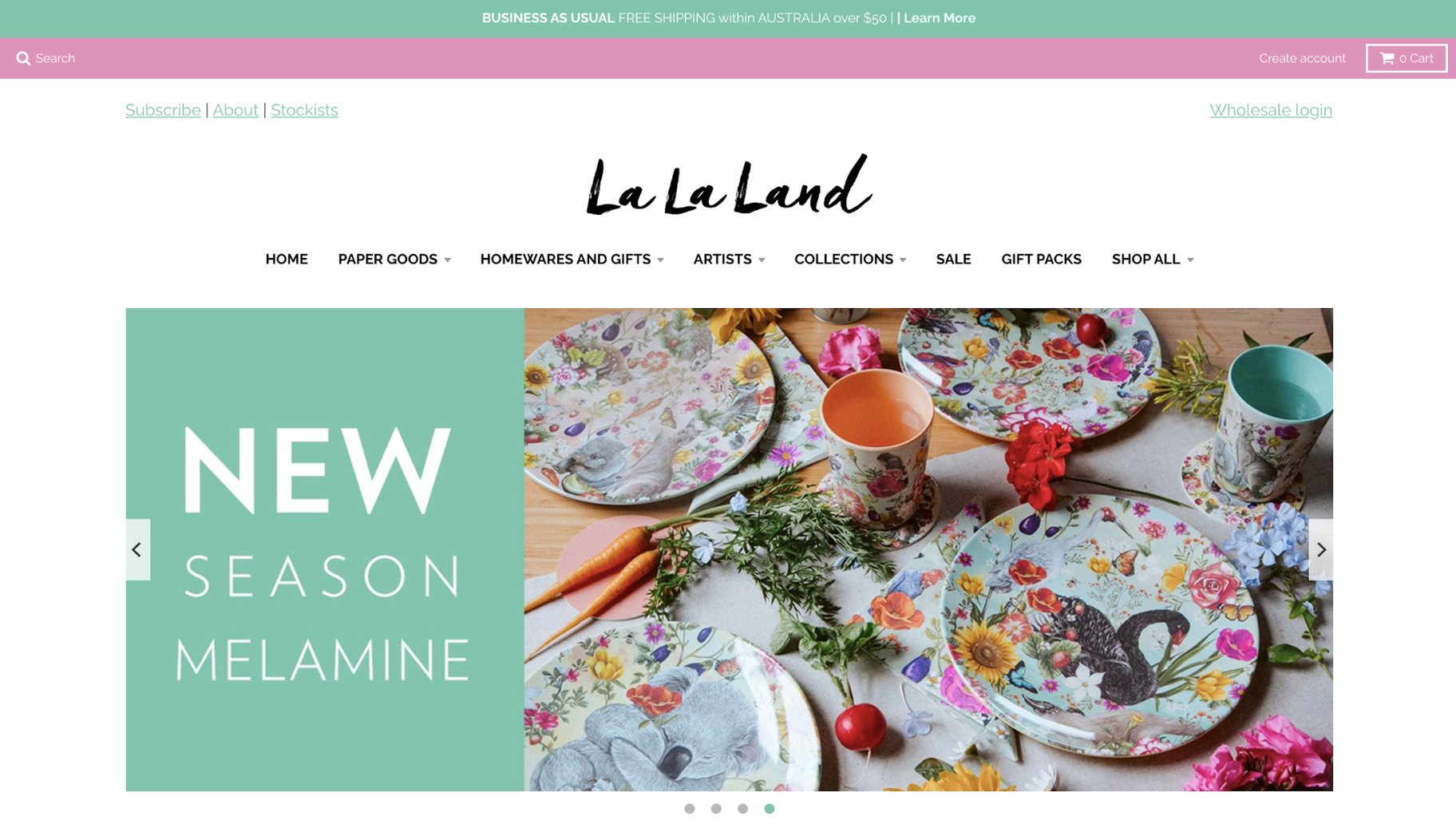 Small Business Website Example: La La Land