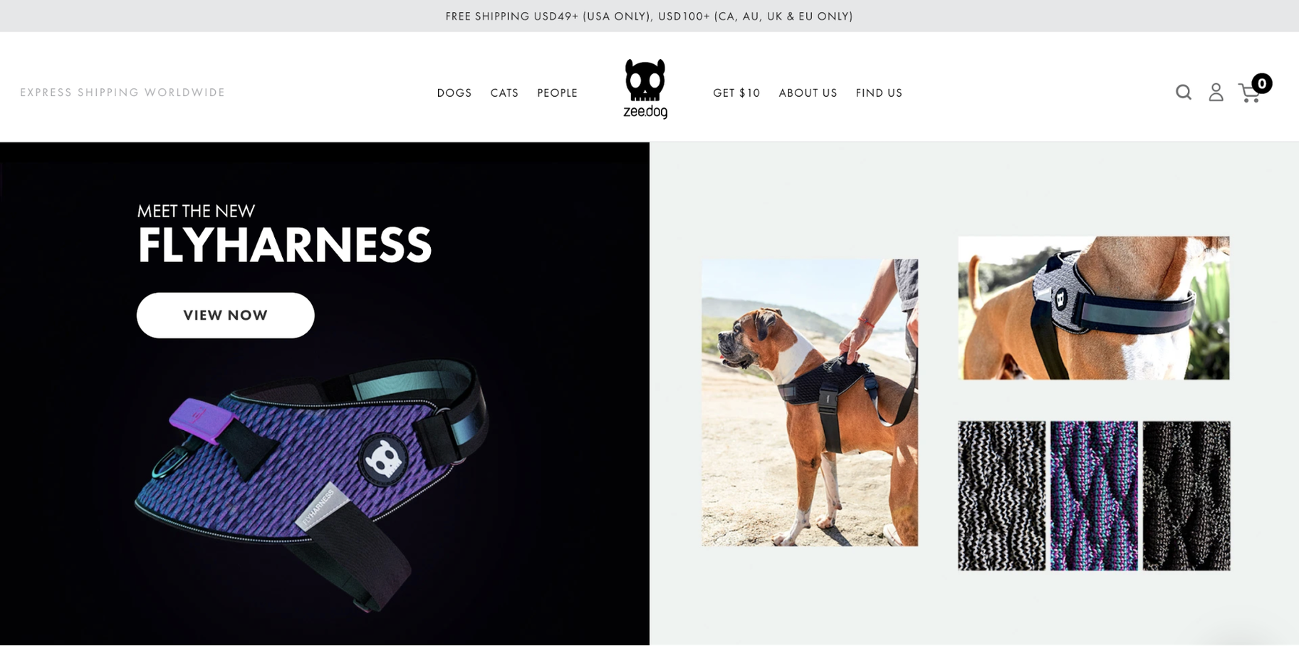 Small Business Website Example: ZeeDog