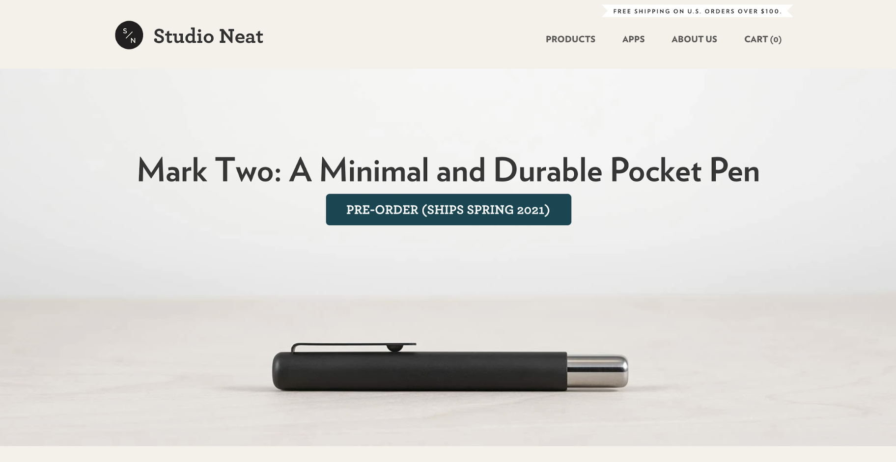 Small Business Website Example: Studio Neat