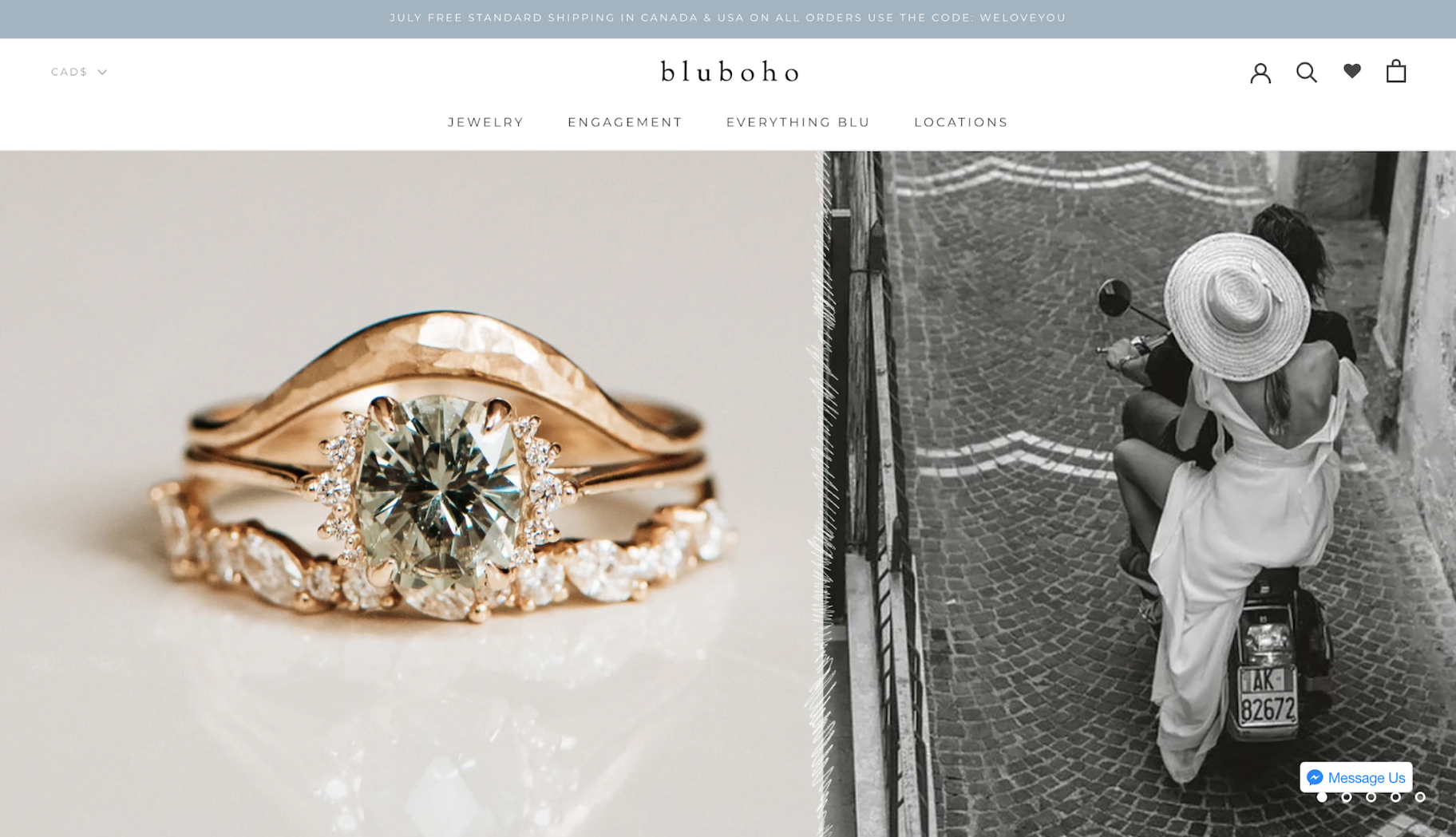 Small Business Website Example: Bluboho