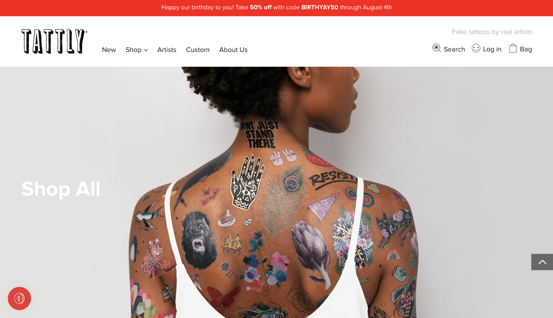 Small Business Website Example: Tattly