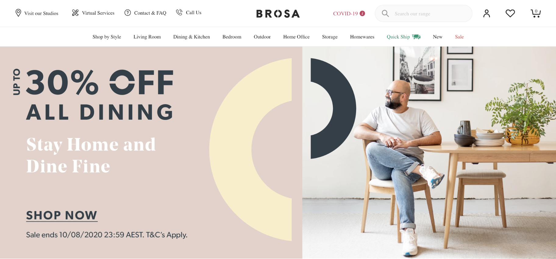 Small Business Website Example: Brosa